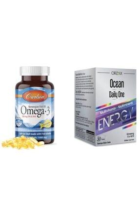 Carlson Omega-3 50 Kapsul Balık Yağı Fish Oil + Daily One Energy 30 Tablet