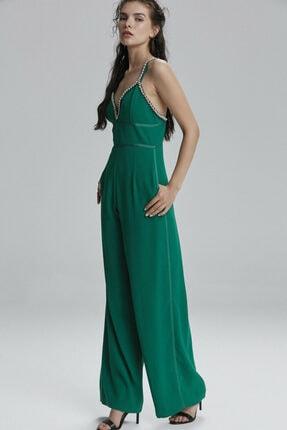 adL Kadın Yeşil Taşlı Tulum