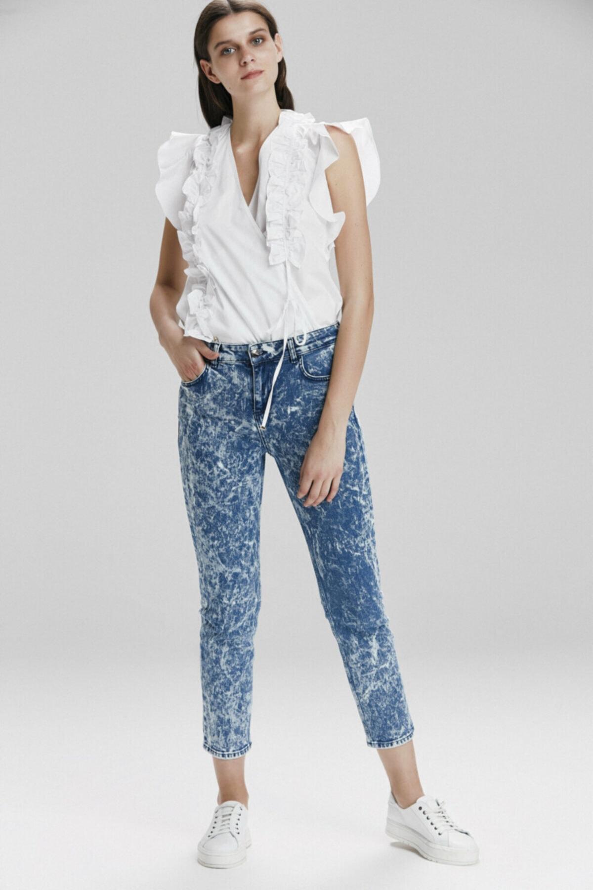 adL Kadın Mavi Denim Pantolon 153C1470000003 1