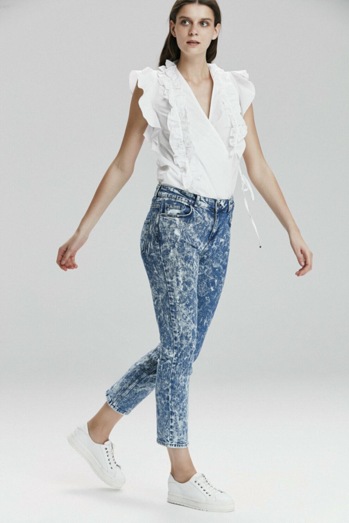 adL Kadın Mavi Denim Pantolon 153C1470000003 2