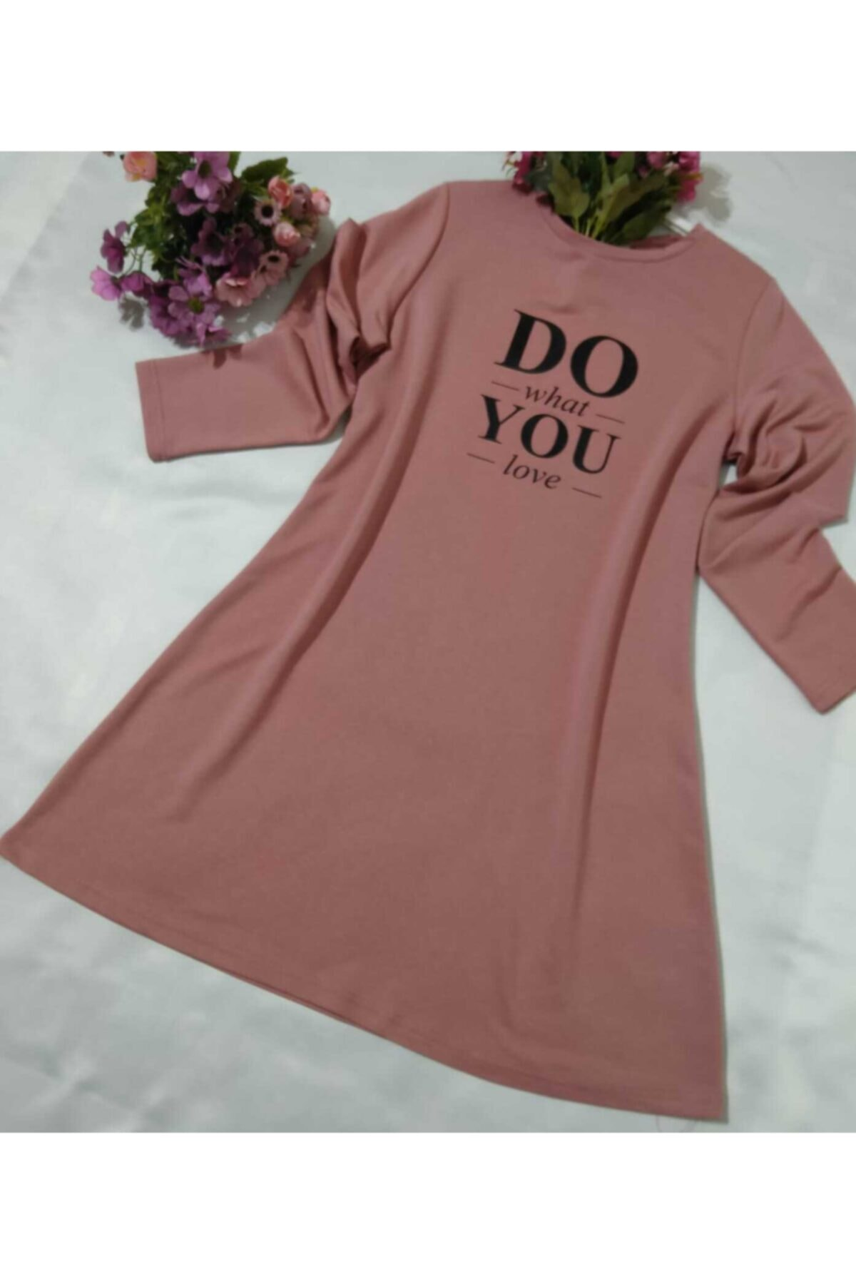 MİSS MODA Kadın Pembe  Iki Ip Sweatshirt 1