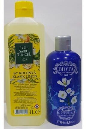 Eyüp Sabri Tuncer Eyüp Sabri 1 Litre Limon Kolanyası + Biota 59 Element Duş Jeli 250 ml Yasemin