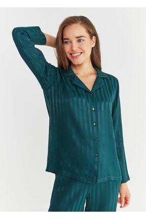 SUWEN Kadın Yeşil Diana Maskulen Pijama Takımı