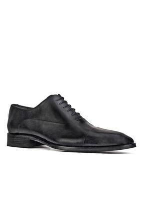 Cabani Erkek Siyah Hakiki Deri Ayakkabı