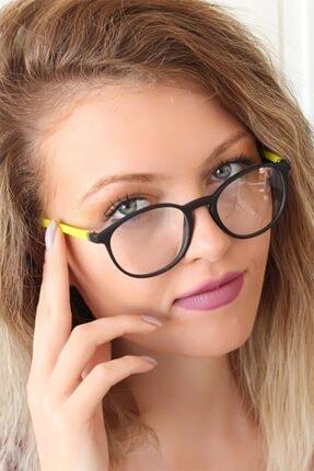 Halvin Kadın Siyah Sarı Oval Gözlük