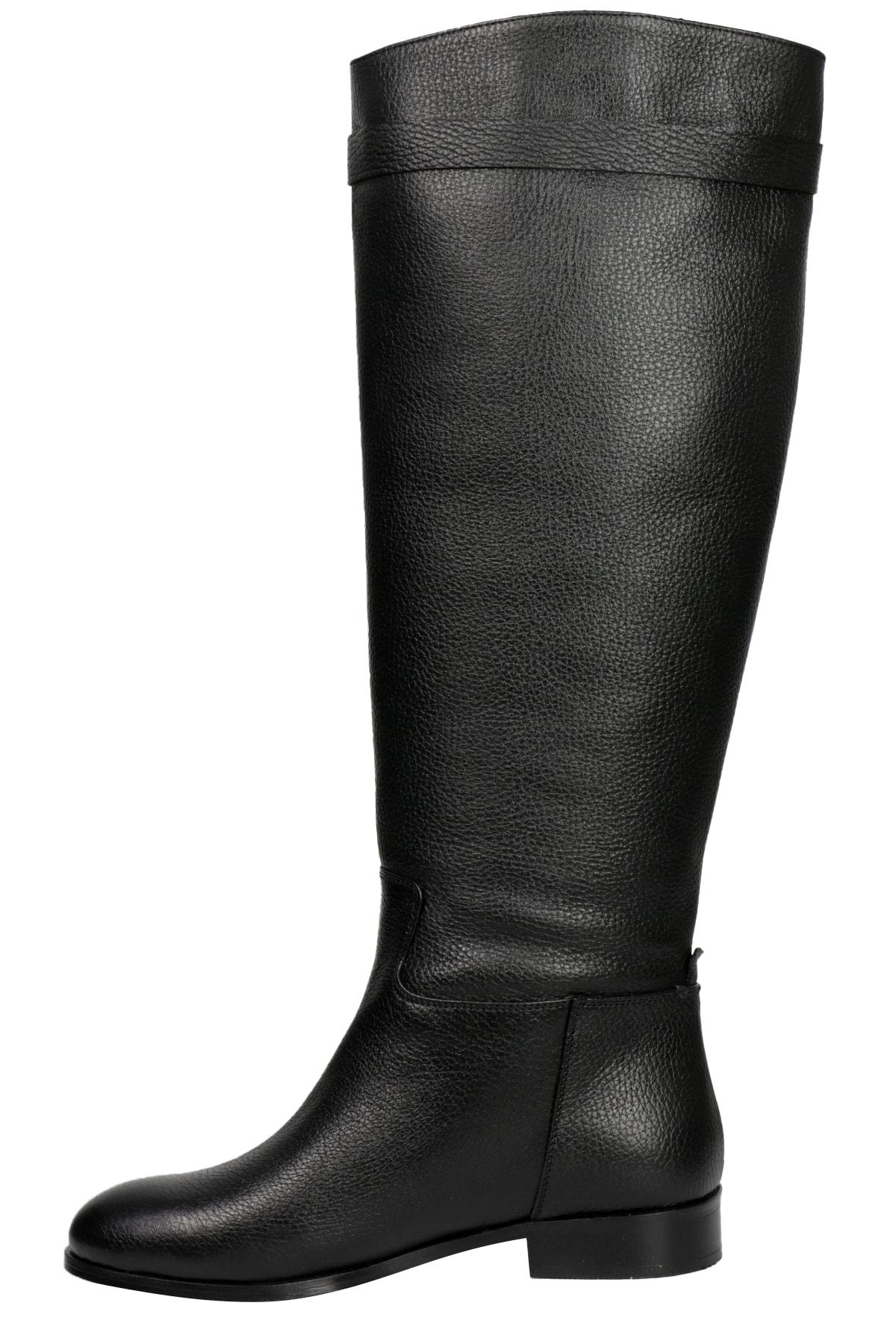 OZ DOROTHY Kadın Siyah Flotur Deri Çizme 2