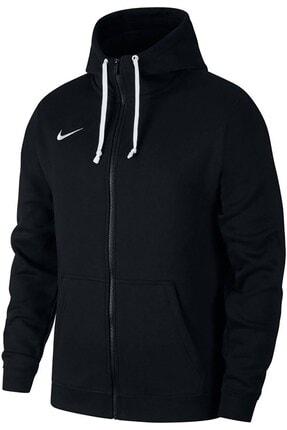 Nike Erkek Siyah  Tam Fermuarlı Sweatshirt