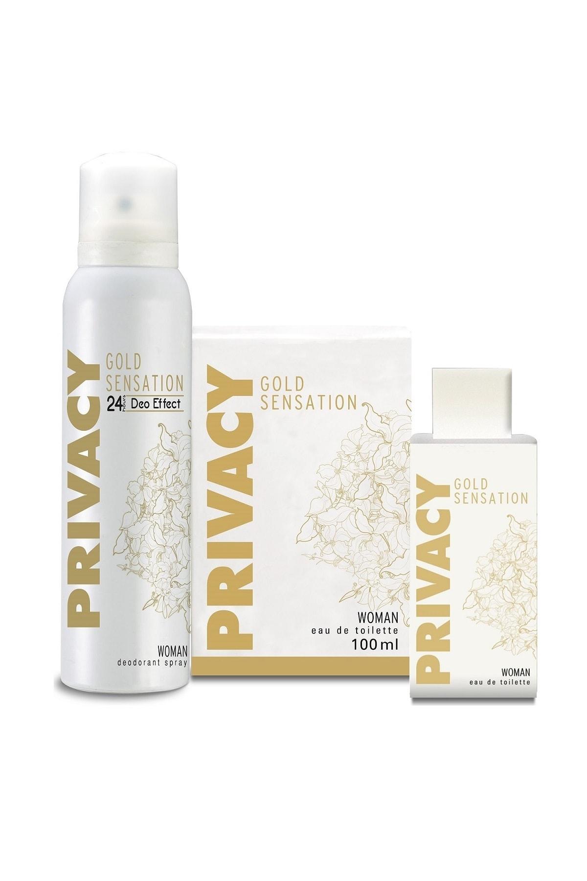Privacy Gold Woman EDT Parfüm 100ml + Deodorant 150ml 2