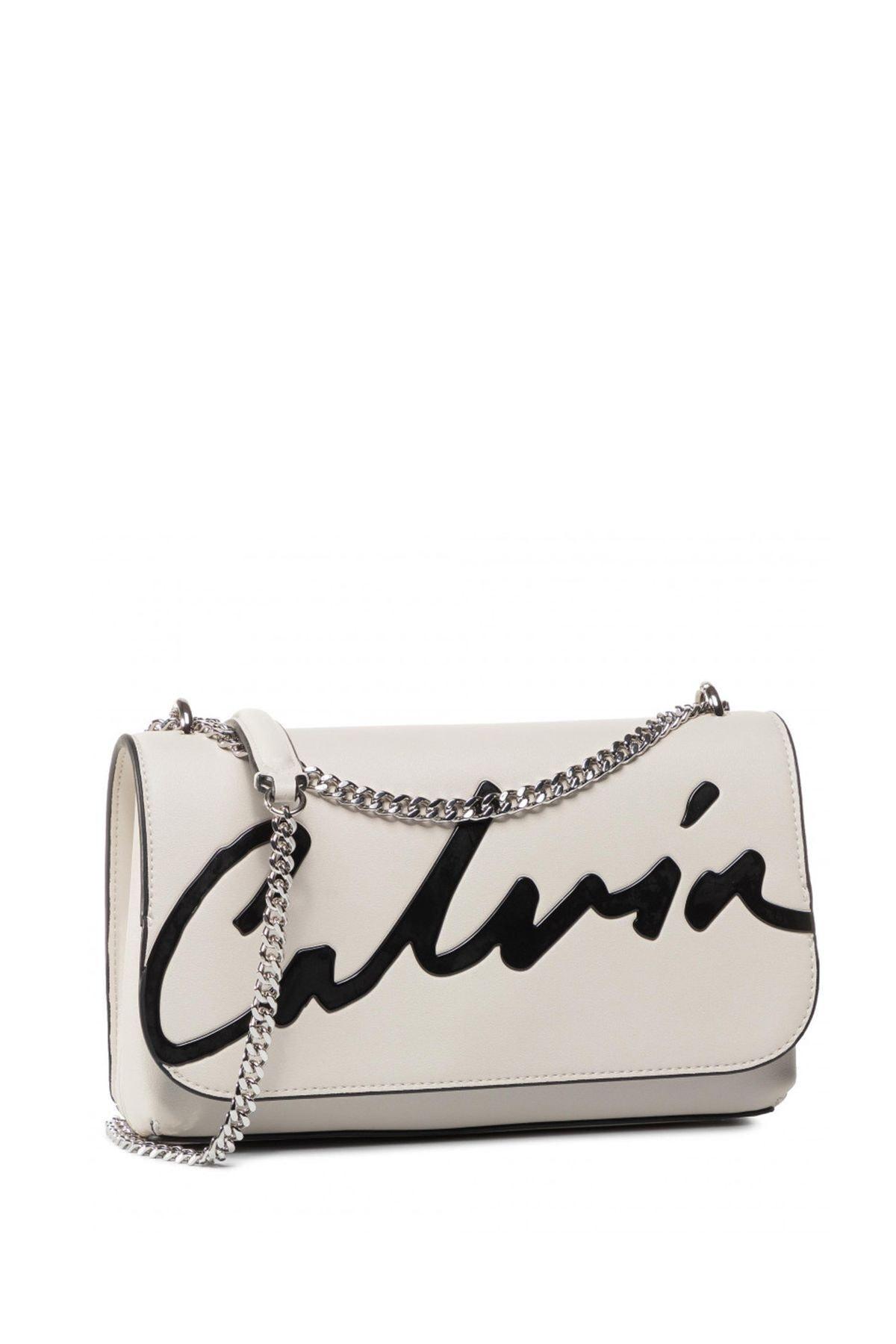 Calvin Klein Kadın Beyaz Ckj Sculpted Flap Ew Xbody Çapraz Askılı Çantası K60k606572 1