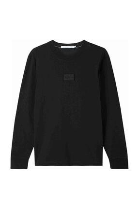 Calvin Klein Siyah   Center Badge Ls Tee J30J316605BEH