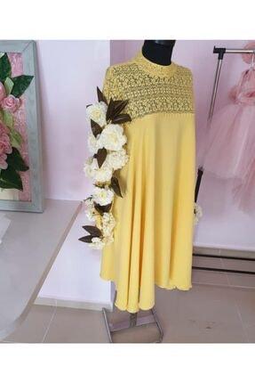 Tozpembebaby Kadın Sarı Hamile Elbisesi