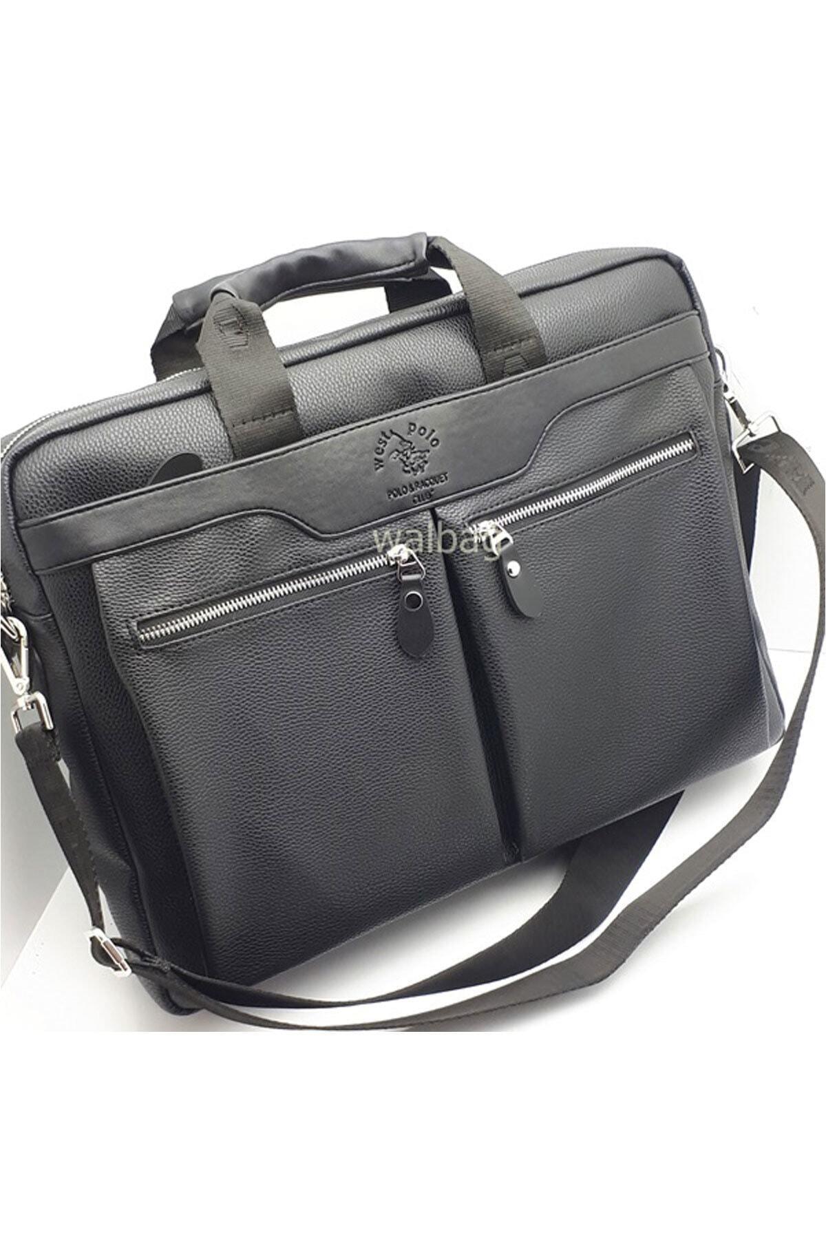Westpolo Erkek Siyah Laptop & Evrak Çantası Try6008 1