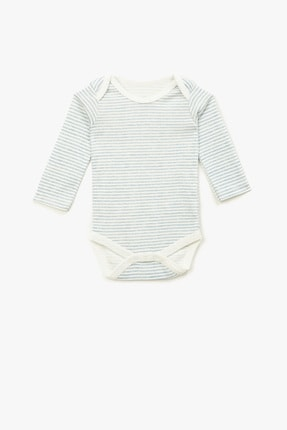 Koton Kids Mavi Çizgili Erkek Bebek Body