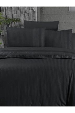 Homesko Siyah Deluxe Ranforce Gala Çift Kişilik Nevresim Takımı