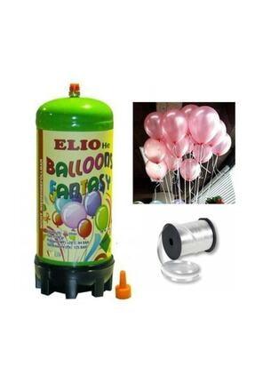 Parti dolabı Helyum Gazı Tüp+20 Adet Metalik Pembe Uçan Balon+ipi