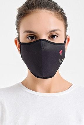 Melantis Medikal Gül Baskılı Yıkanabilir Kumaş Bez Maske