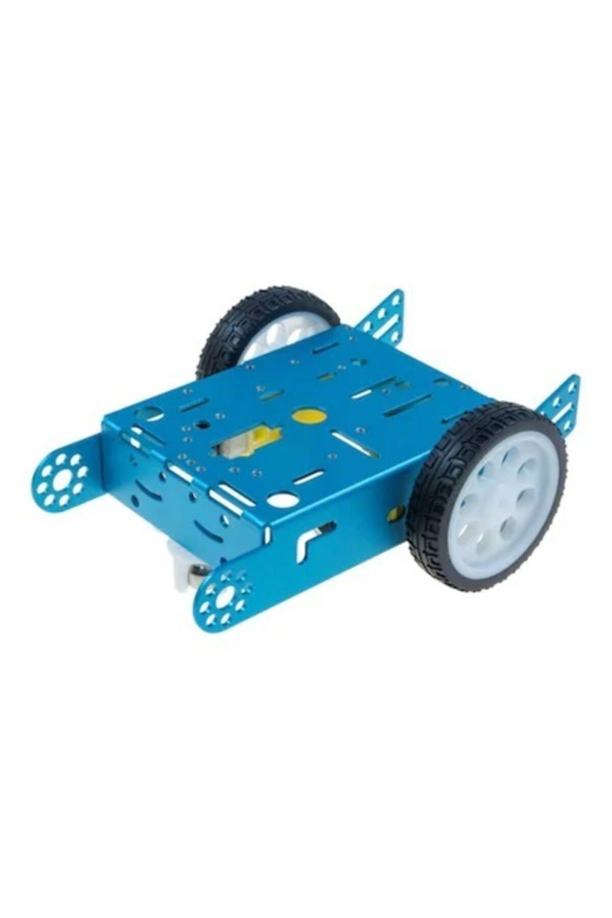 BAKAY Mbot Alüminyum Araç Kiti 2wd Mavi ( Motor Ve Tekerlek Dahil) 1