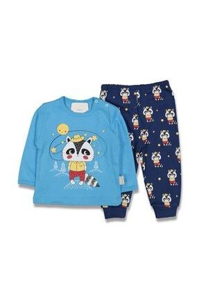 Dandini Erkek Bebek Mavi Tilkili Pijama Takımı
