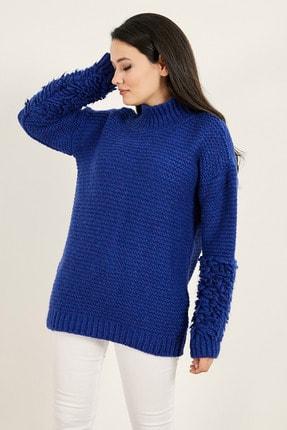 Sateen Kadın Saks Mavi Triko 20KTR220K155