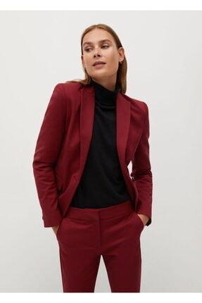 MANGO Woman Kadın Bordo Pantolon
