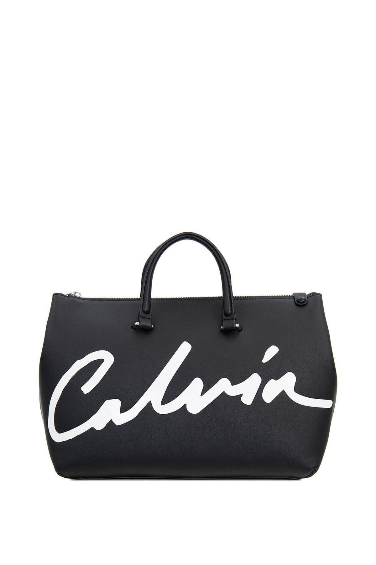 Calvin Klein Kadın Sculpted Satchel El Çantası 1