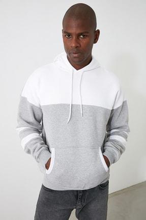 TRENDYOL MAN Gri Erkek Sweatshirt TMNAW21SW0923