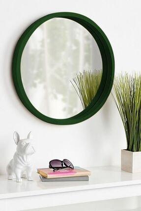 bluecape Doğal Ağaç Masif 45cm Yeşil Çerçeveli Antre Koridor Duvar Salon Banyo Ofis Çocuk Yatak Odası Ayna