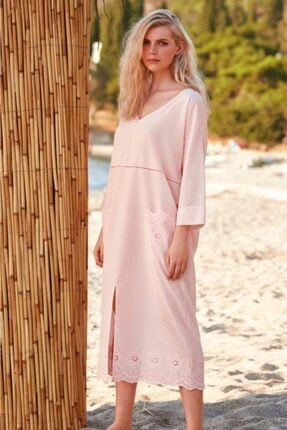 Penyemood Kadın Pembe Penye Mood  Elbise 8762