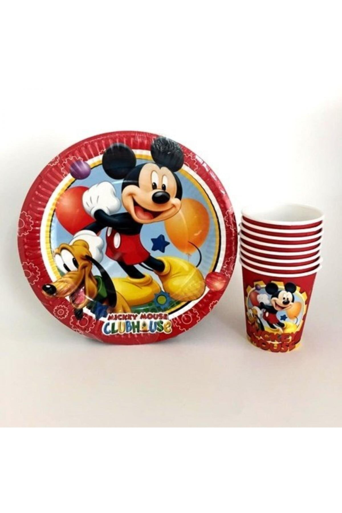 Mickey Mouse Doğum Günü Tabak Bardak Seti 24 Kişilik 1