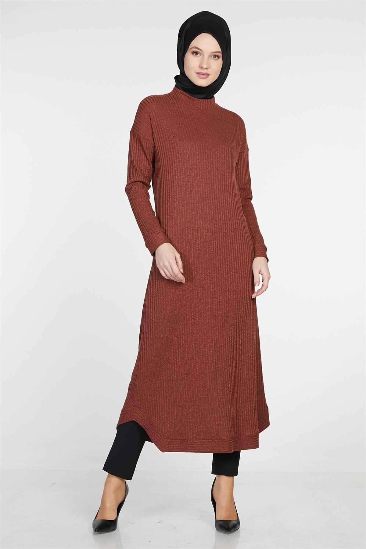 Tuğba Kadın Kiremit Elbise 1