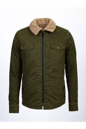 Mcr Erkek Yeşil Içi Kürklü Gömlek Mont