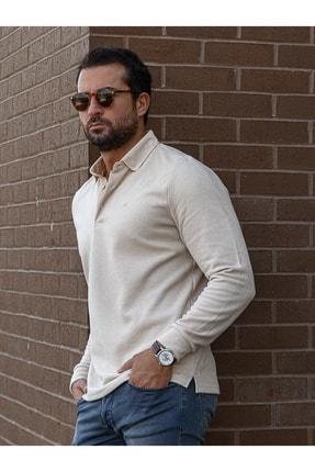 Mcr Erkek Bej Düğmeli Penye T-Shirt
