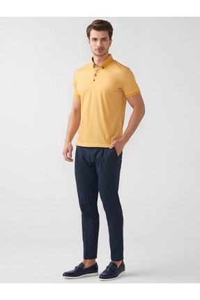 Mcr Erkek Sarı Baskılı Gömlek Yaka Tshırt