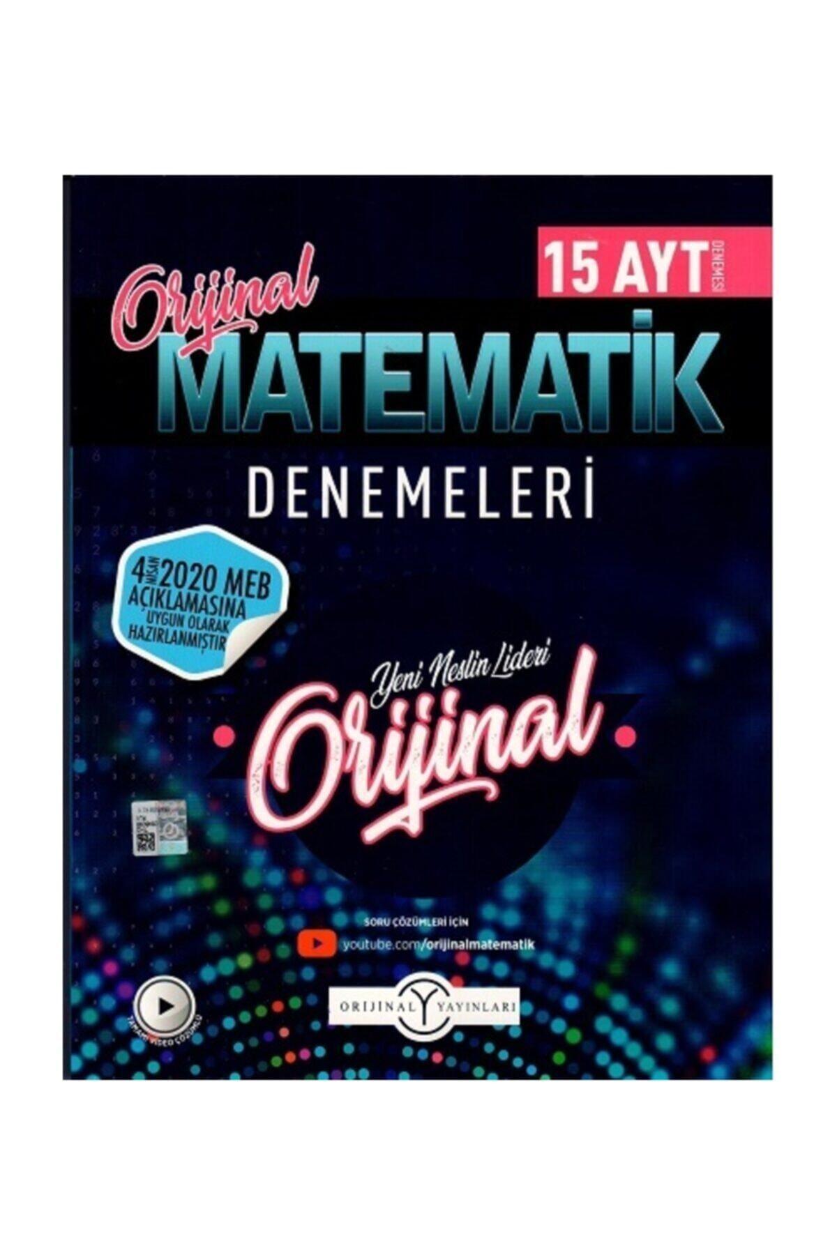 Orijinal Yayınları Ayt Matematik Özel 15 Li Denemeleri 1