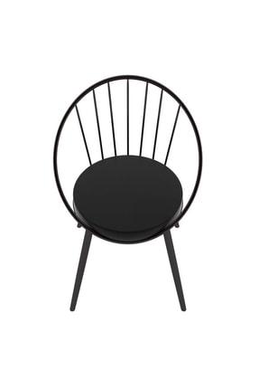 Evdemo Eylül Metal Tel Sandalye Siyah