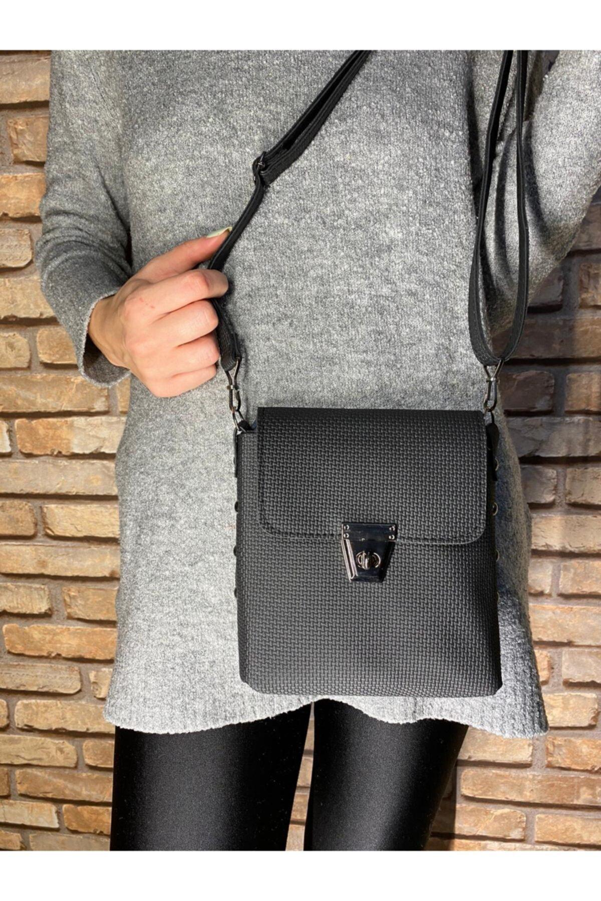 İleri Moda Kadın Siyah Çapraz Omuz Çanta 1