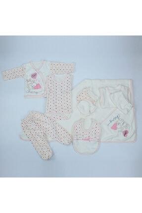 Bambino Unisex Yeni Doğan Bebek Pembe 11'li Hastane Çıkışı Seti