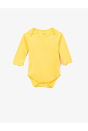 Koton Erkek Bebek Sarı Basic Uzun Kollu Çıtçıtlı Zıbın