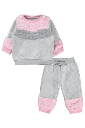 Kujju Kız Bebek Gri Takım