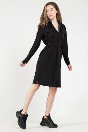 Calvin Klein Kadın Siyah Elbise
