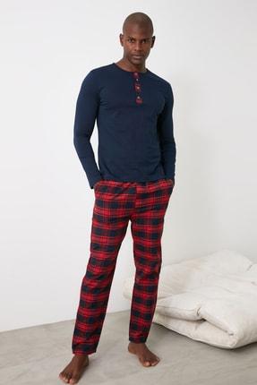 TRENDYOL MAN Ekoseli Dokuma Pijama Takımı THMAW21PT0872