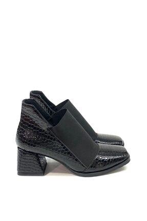 sarra Siyah Rugan Krokodil 6cm Buti