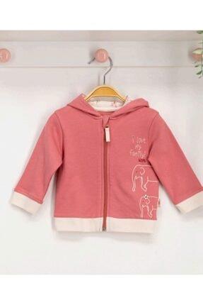 U.S. Polo Assn. Pembe Kız Bebek Kapşonlu Hırka