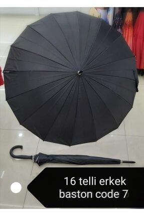 MRÇ Baston Siyah Şemsiye