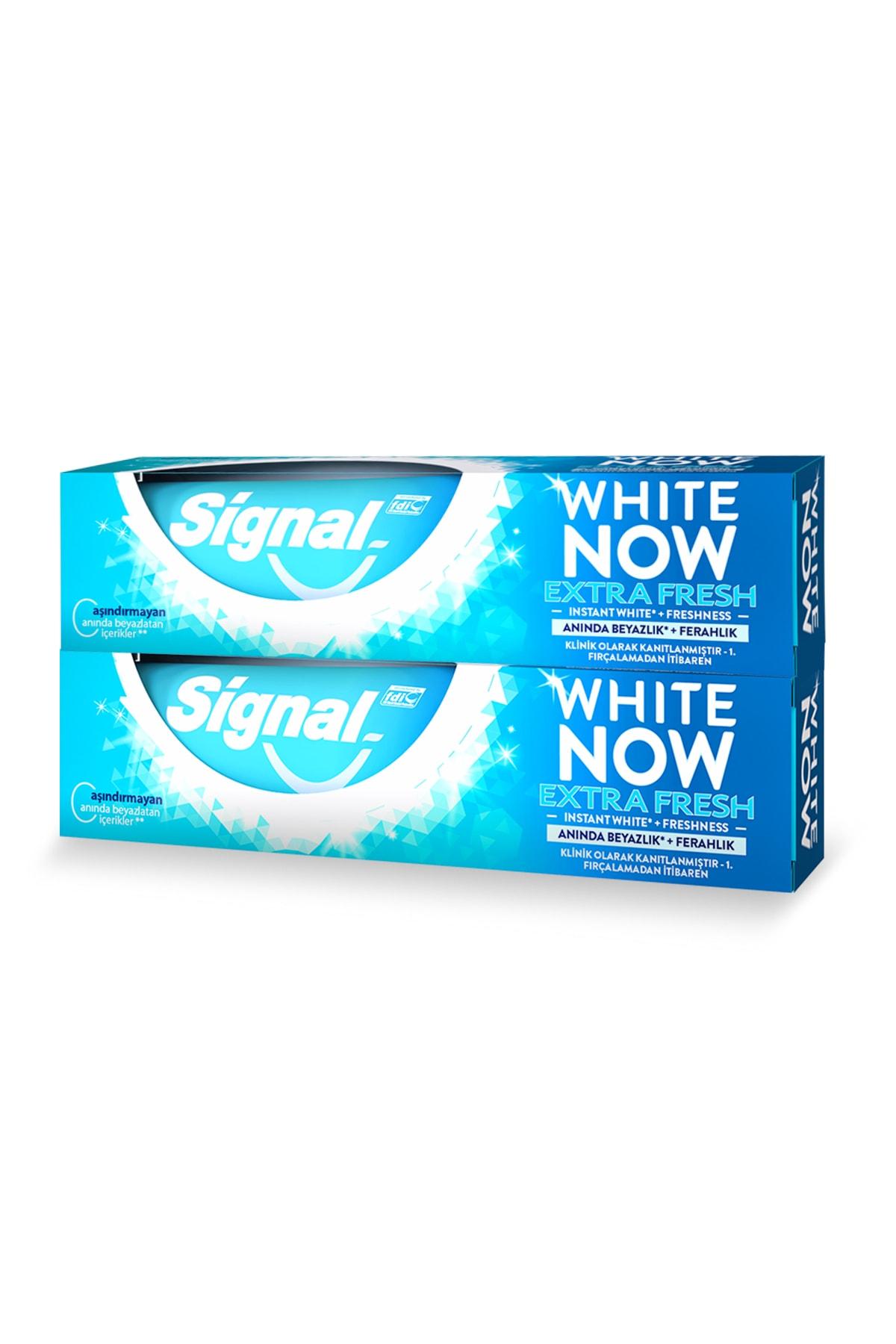 Signal White Now Extra Fresh Anında Beyazlık + Ferahlık Diş Macunu 75 ml X2 2