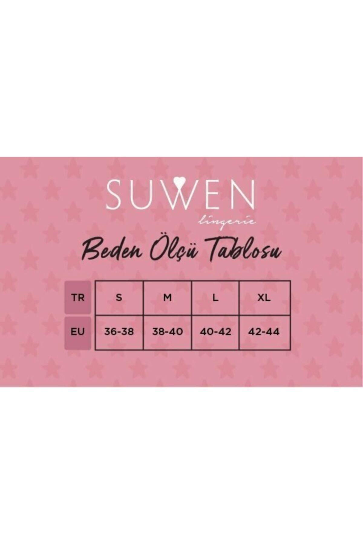 SUWEN Kadın Renkli 3'lü Paket Yüksek Bel Slip Külot 2