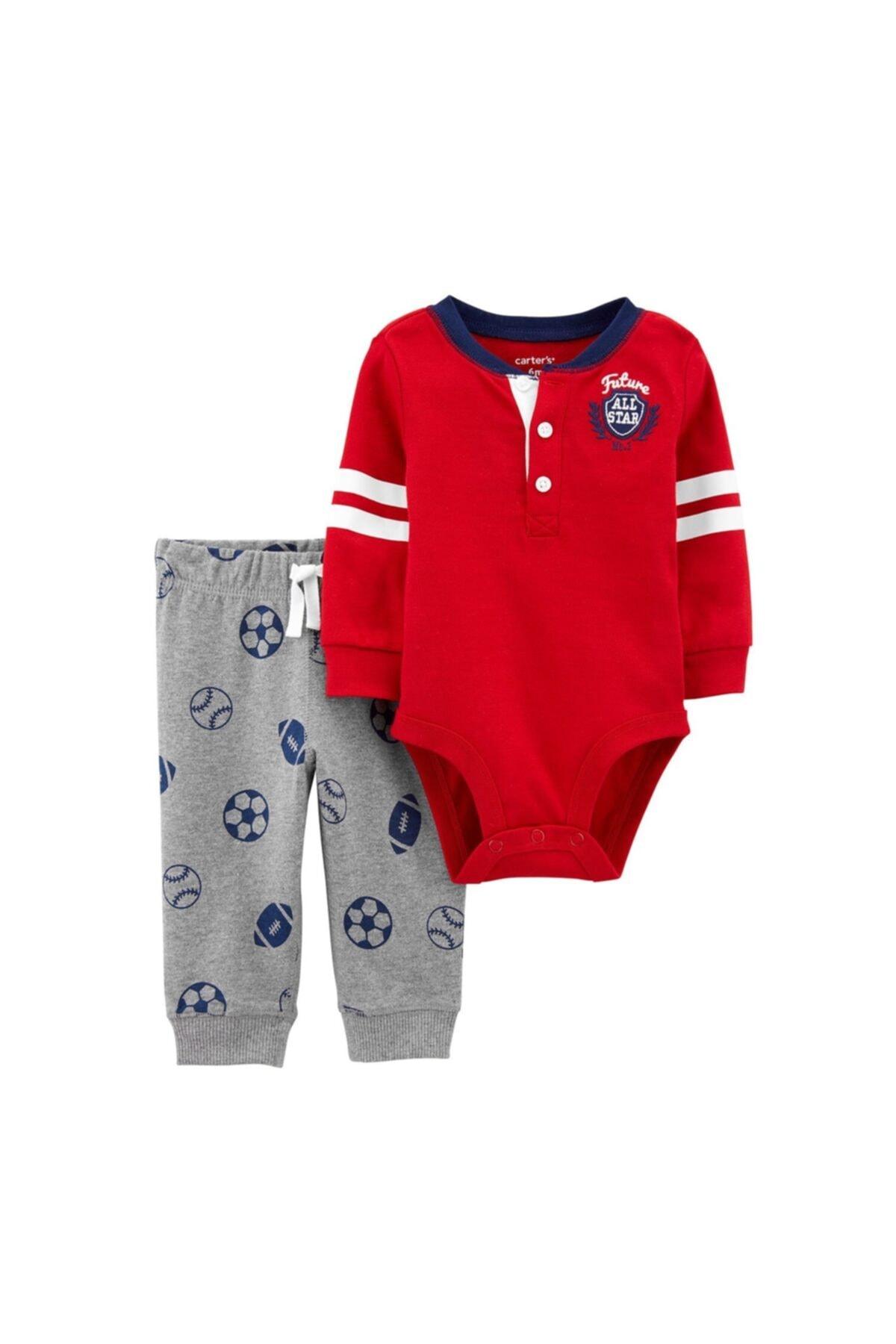 Carter's Erkek Bebek Kırmızı 2'li Takım 1j200310 1