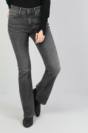 Colin's KADIN 791 Monıca Orta Bel Rahat Paça Regular Fit Gri Kadın Jean Pantolon CL1045956
