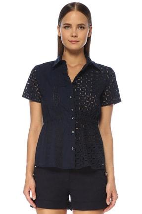 Network Kadın Lacivert Gömlek 1073199
