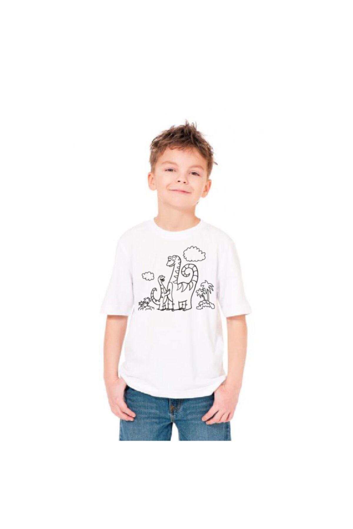 paint-wear Dinazor Ailesi Boyama T-shirt 9-11 Yaş 2